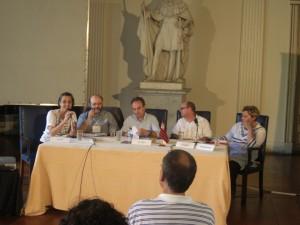 Lúcia Riff, Roberto Vecchi, João Almino, Luiz Ruffato e Carmen Corral