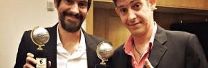 Gabriel Bá (à esquerda) e Fábio Moon, em imagem compartilhada pelos irmãos em suas redes sociais