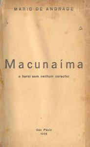 Macunaíma 1928 (folha de rosto acervo Biblioteca Nacional)